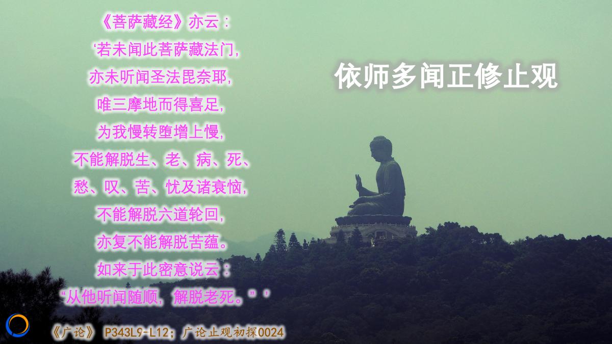 [Meditative·Serenity] 依师多闻正修止观