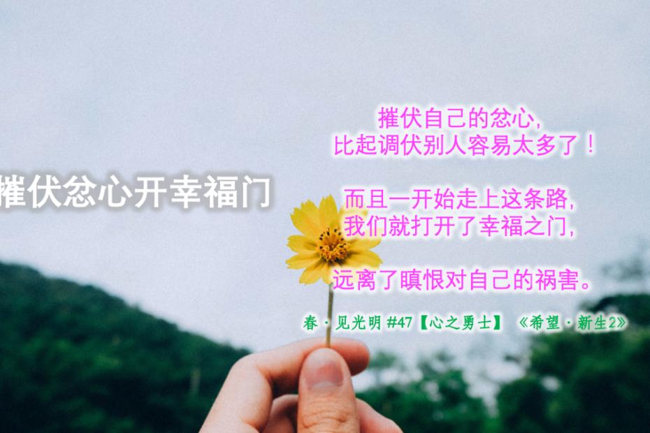 【心之勇士】摧伏忿心开幸福门